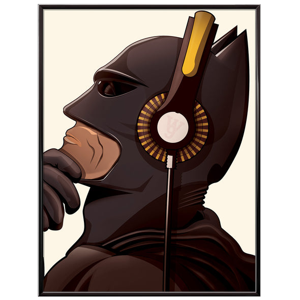 The Batman Music Headphones poster print - wyatt9.com