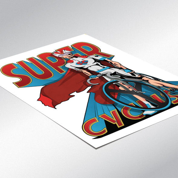 Superhero Cyclists Poster Print Set