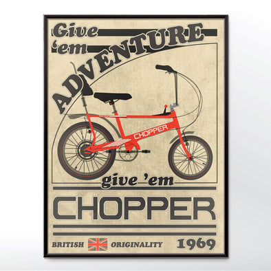 Chopper bicycle vintage poster. wyatt9.com