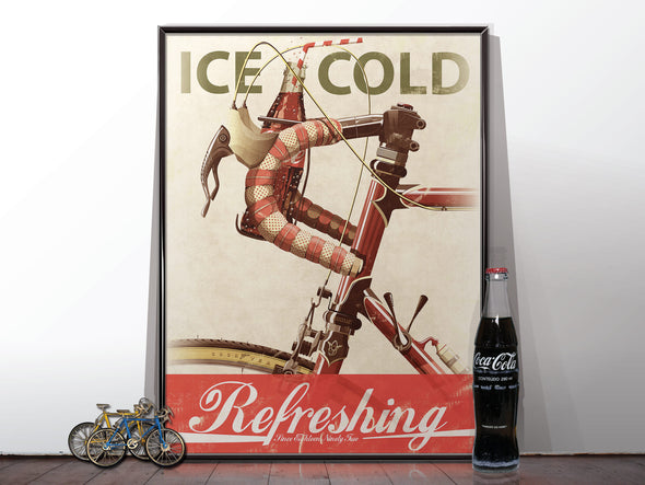 Bicycle Coca Cola Advert Poster