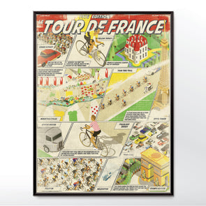 Vintage Tour de France Bicycle Poster three sizes 30x40 cm, 18x24 inches, 24x36 inches