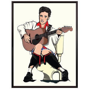 Elvis Presley on the toilet Poster