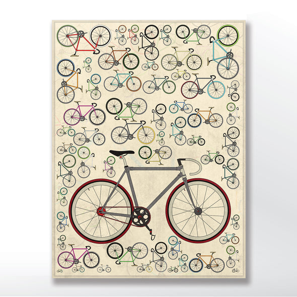 Vintage Fixed Gear Bicycle Poster - wyatt9.com