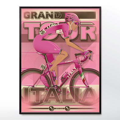 Giro D'Italia Bicycle Bike Race Poster