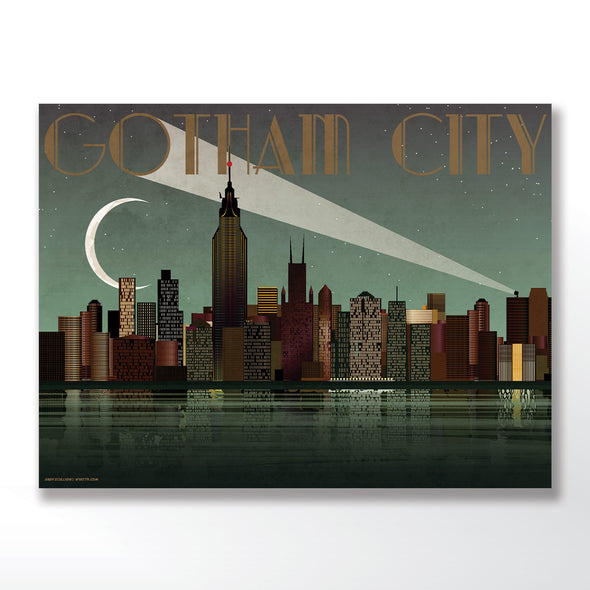 Batman Gotham city poster wall art print wyatt9.com