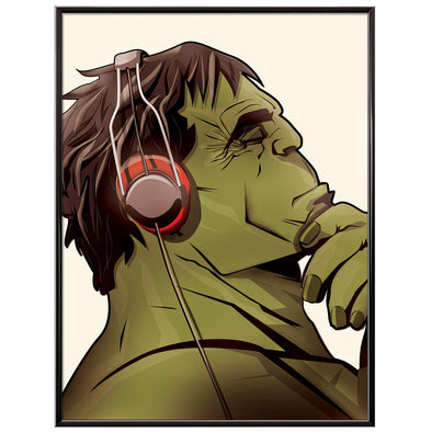 The Incredible Hulk Music Headphones poster print - wyatt9.com