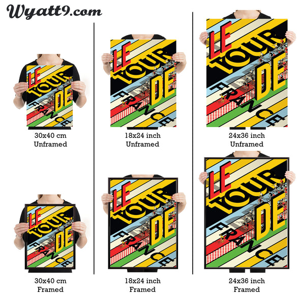 Tour de France cycling poster  wall art print - wyatt9.com