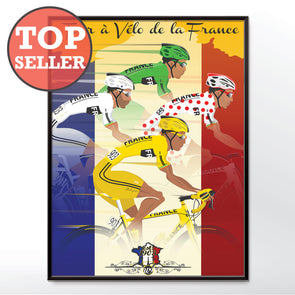 Tour De France Jerseys Bicycle Bike Cycling Poster