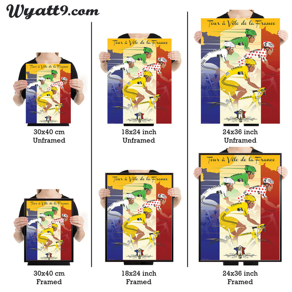 Tour de france yellow jersey poster wall art print - wyatt9.com