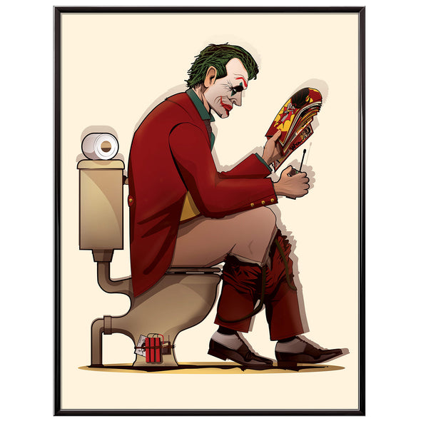 Joker Toilet Bathroom Poster