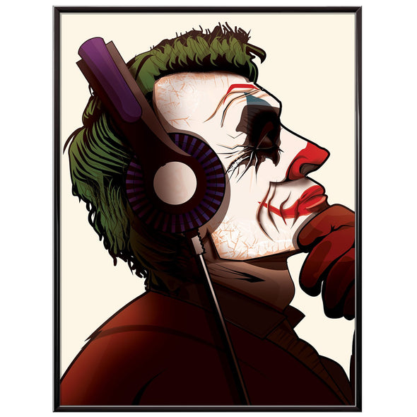 The Joker Music Headphones poster print - wyatt9.com