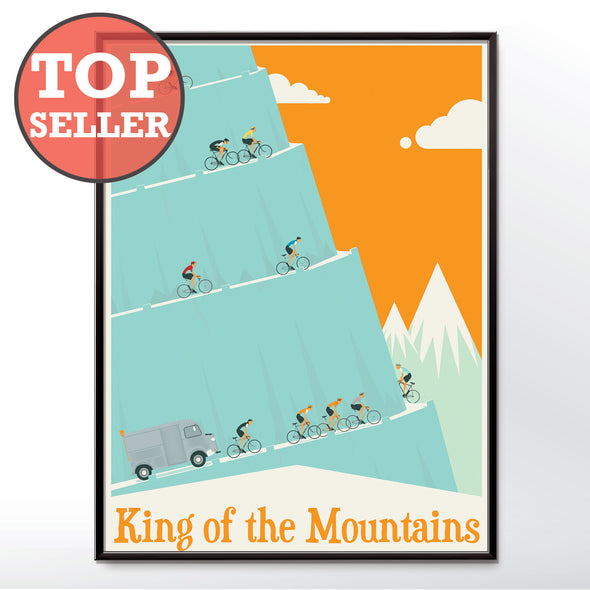 poster king of the mountains cycling tour de france wall art print wyatt9.com