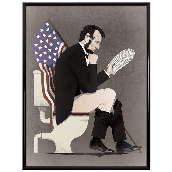 Abraham Lincoln Toilet Poster dark