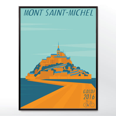 Grand Depart Tour De France Mont Saint-Michel 2016 Bicycle Poster