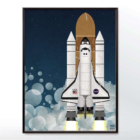 Nasa Space Shuttle Spaceship Rocket Poster
