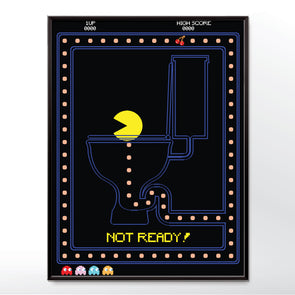 Pac-Man on the Toilet Art Print