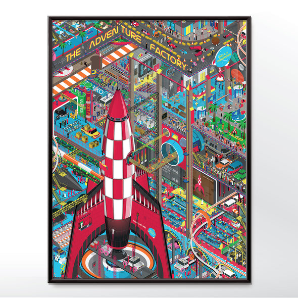 Space Tourism Rocket Launch Poster, wall art print - wyatt9.com