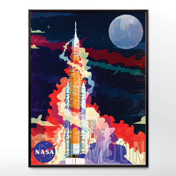 Nasa SLS Rocket Poster Framed in three sizes 30x40cm, 18x24 inches, or 24x36 inches - wyatt9.com