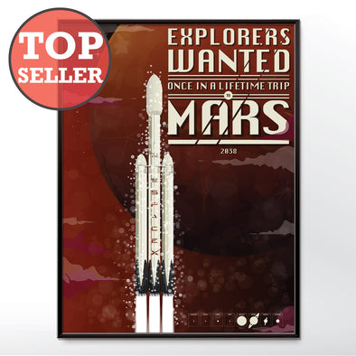 spacex poster adventure to mars - wyatt9.com