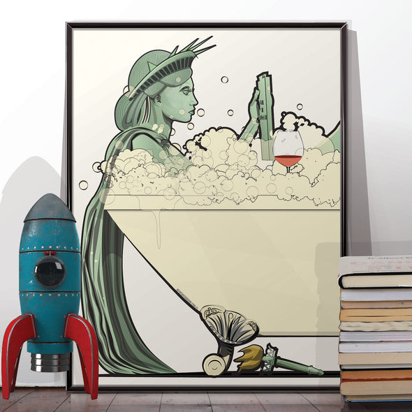 statue of liberty bath poster