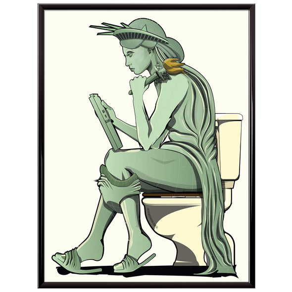 statue of liberty toilet