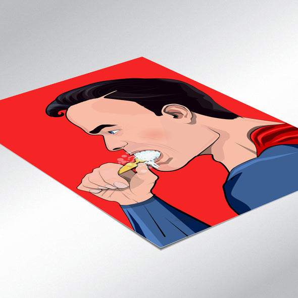 superman brushing his teeth bathroom poster wyatt9.com