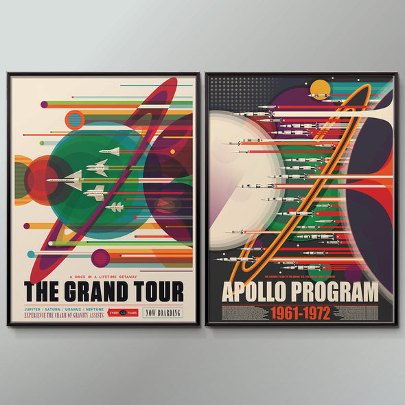 Grand Tour Space Tourism Poster Set - wyatt9.com
