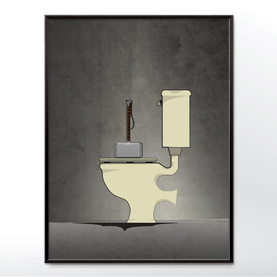Thor Bathroom Poster Wall Art Print