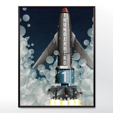 Thunderbird one 1 poster rocket launch bedroom wall art from wyatt9.com