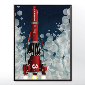 Thunderbird 3 rocket launch poster wall art print - wyatt9.com