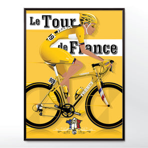 Tour de France yellow cycling poster wall art print - wyatt9.com