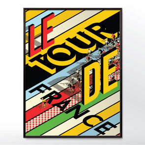 Tour De France Art Print Bicycle Bike Poster