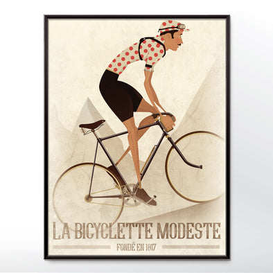 Polka dot Jersey Bicycle Poster