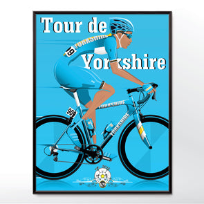 Tour de yorkshire cycling poster wall art print - wyatt9.com