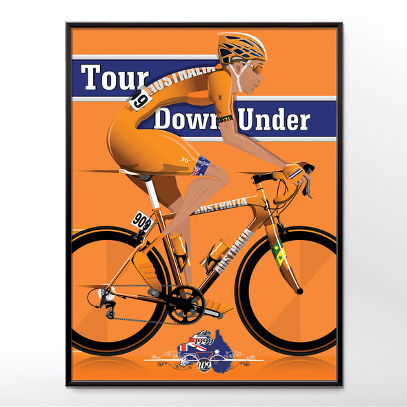 tour down under poster cycling wall art print - wyatt9.com