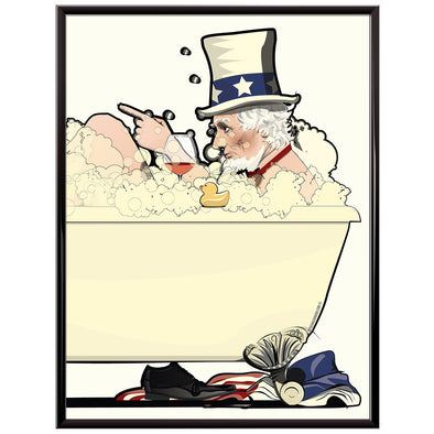 uncle sam in the bath