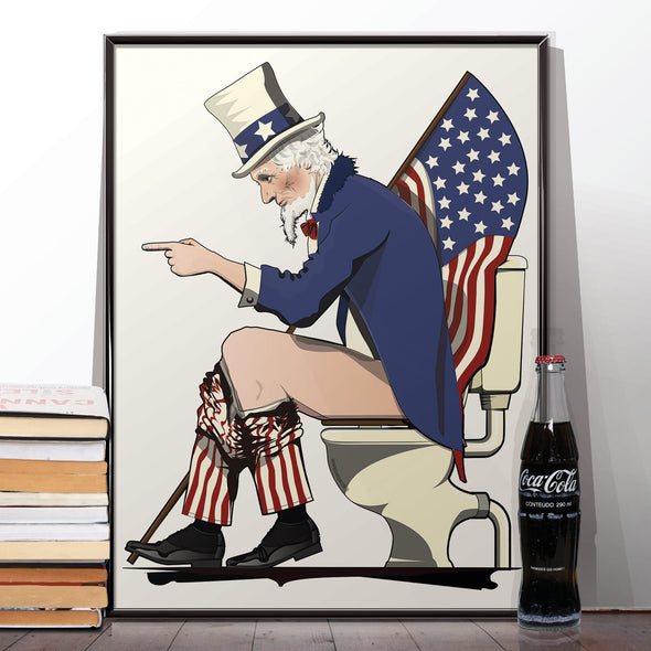 Uncle Sam Toilet Poster