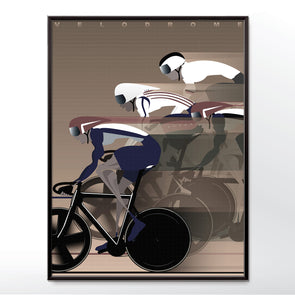 Velodrome Bicycle Bike Cycling Race Poster