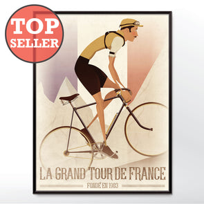 Tour De France Vintage Style Art Print Bicycle Poster