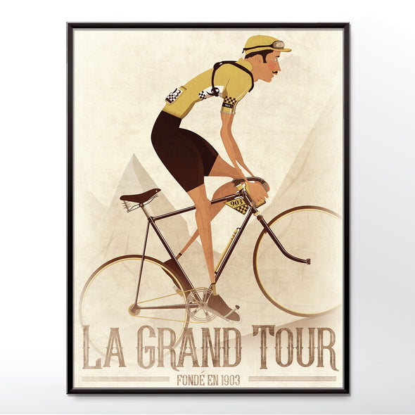 tour de france vintage cycling poster wall art print from wyatt9.com