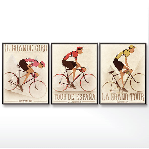 Tour De France, Giro D'Italia and Vuelta a España Posters