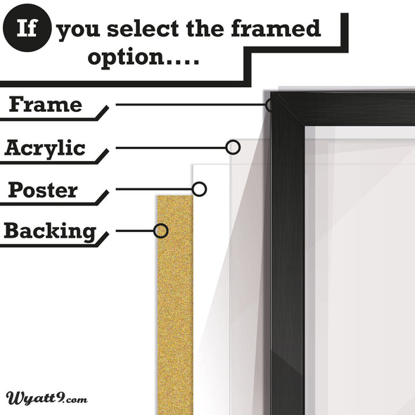Framed Poster guide from wyatt9.com for blue bicycle poster