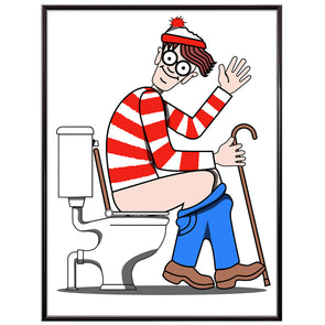 Where's Waldo or Wally toilet poster print - wyatt9.com