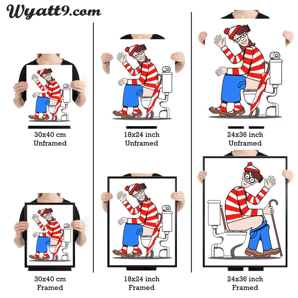 Where's Waldo or Wenda toilet poster print - wyatt9.com