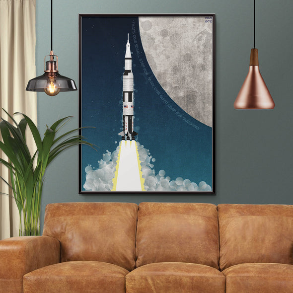 Nasa apollo Program saturn rocket poster