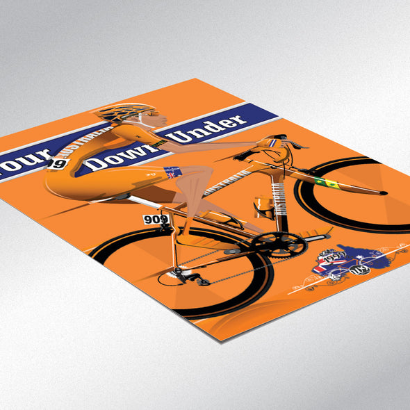Tour Down Under Bicycle Bike Cycling Poster Wall Art Print Home Décor York cycle race grand tour Adelaide, South Australia, Australian