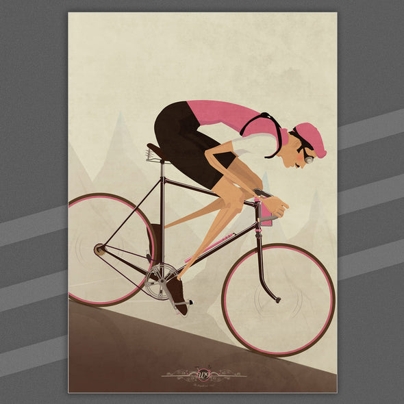 Vintage cyclist poster