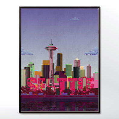 Seattle wall art poster sun set from wyatt9.com