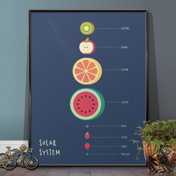 Solar System Fruit Planets Space Kitchen Poster - wyatt9.com