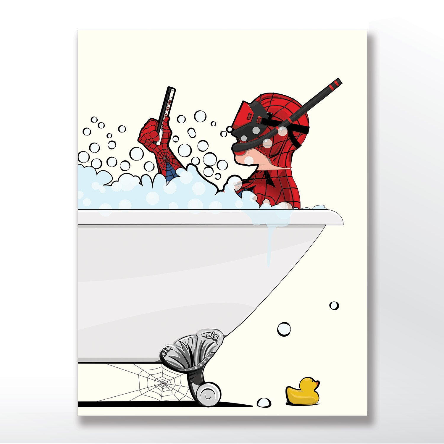 Spider Man In The Bath Funny Bathroom Poster Wyatt9 Com